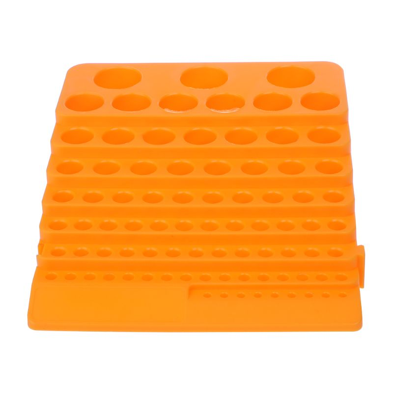 84 Holes Multifunctional Thickened Milling Cutter Reamer Drill Bit Storage Box Tool Accessories Organizer 649E