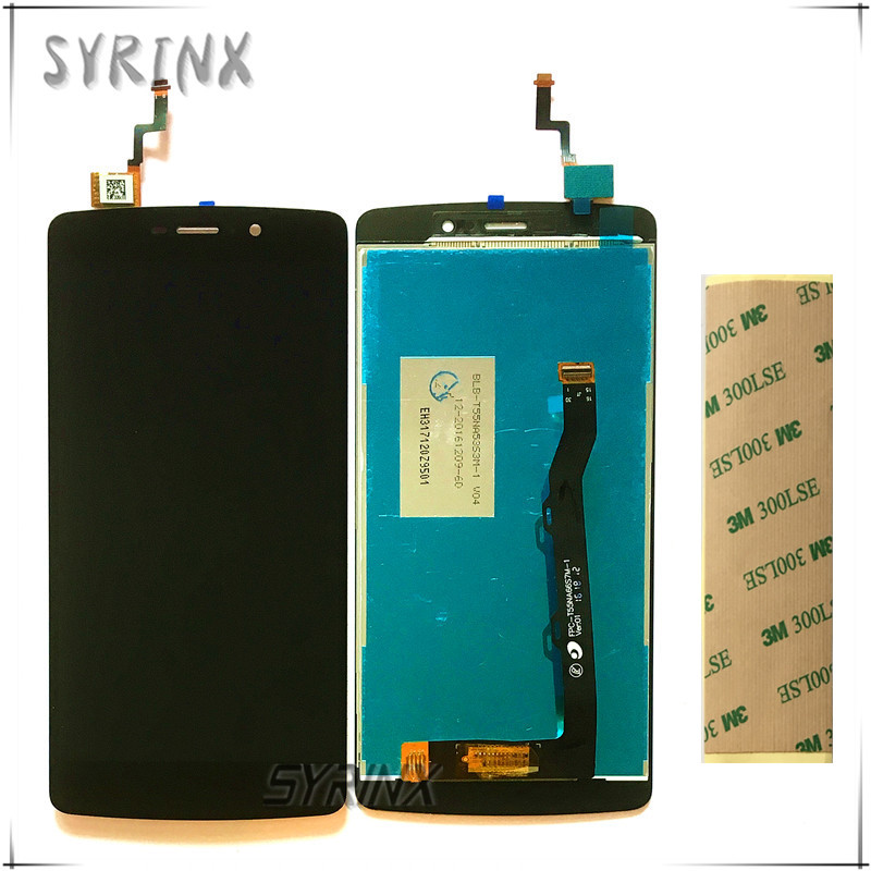 Syrinx With 3M Tape Moible Phone LCD For TP-Link Neffos C5 Max Touch Screen Digitizer Lcd Display Assembly For TP-Link C5 LCD