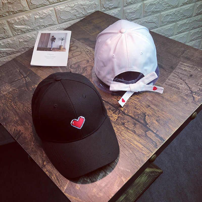 المرأة عارضة قبعات بيسبول التطريز الحلو القلب الشارع الشهير قبعات الورك البوب قبعة واقية الفتيات Snapback غورا هومبر Casquette