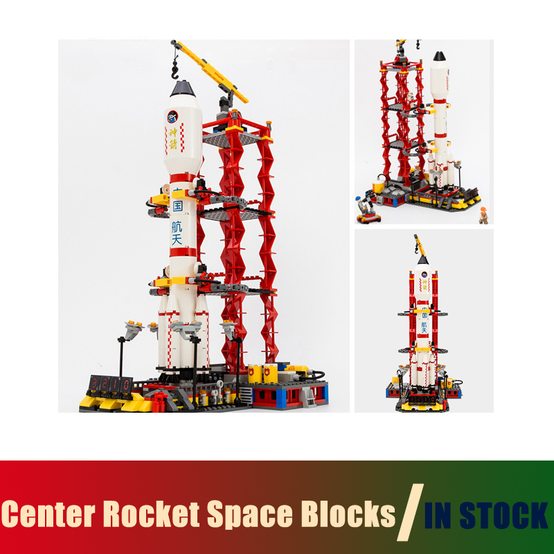 Compatible with lego city Models building toy Center Rocket Space Blocks 753pcs Building Blocks toys & hobbies birthday gift toys in space