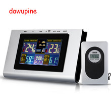 Discount! 433MHz  Wireless Electronic Weather Station Thermometer MoistureMeter Alarm Clock Barometer Hygrometer Calendar Weather Forecast