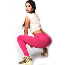 Candy Color Elastic Fitness Leggings Women Sport Leggings Pants Running Training Gym Women Leggings 2017