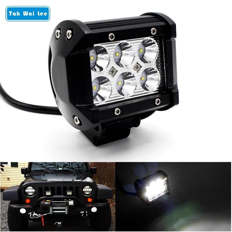 Tak Wai Lee 1Pcs / Set 18W 4Ich Inch LED Bar Bar Light Waterproof for - Ավտոմեքենայի լույսեր - Լուսանկար 1