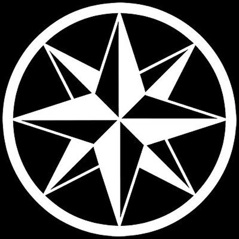 14cm14cm tribal compass rose nautical star car sticker black silver vinyl decal s6 3515 in car stickers from automobiles motorcycles on aliexpress com