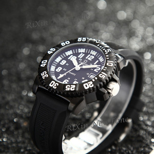 Image 5 - Top brand luxury tritium luminous quartz watch men waterproof sports men watches full steel clock tritium light uhren damen saat