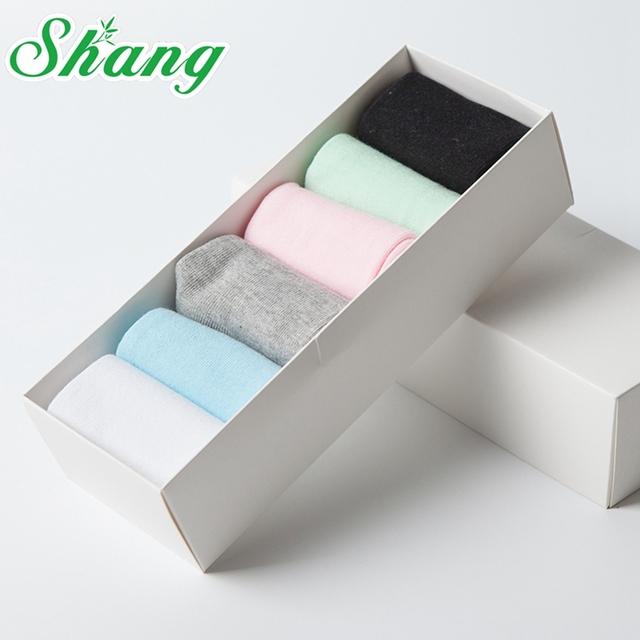 BAMBU ÁGUA SHANG Mulheres meias de embalagem caixa de Presente Lindo Penteado meias de algodão para as mulheres Doces bonito cor Pura meias casuais lq-42