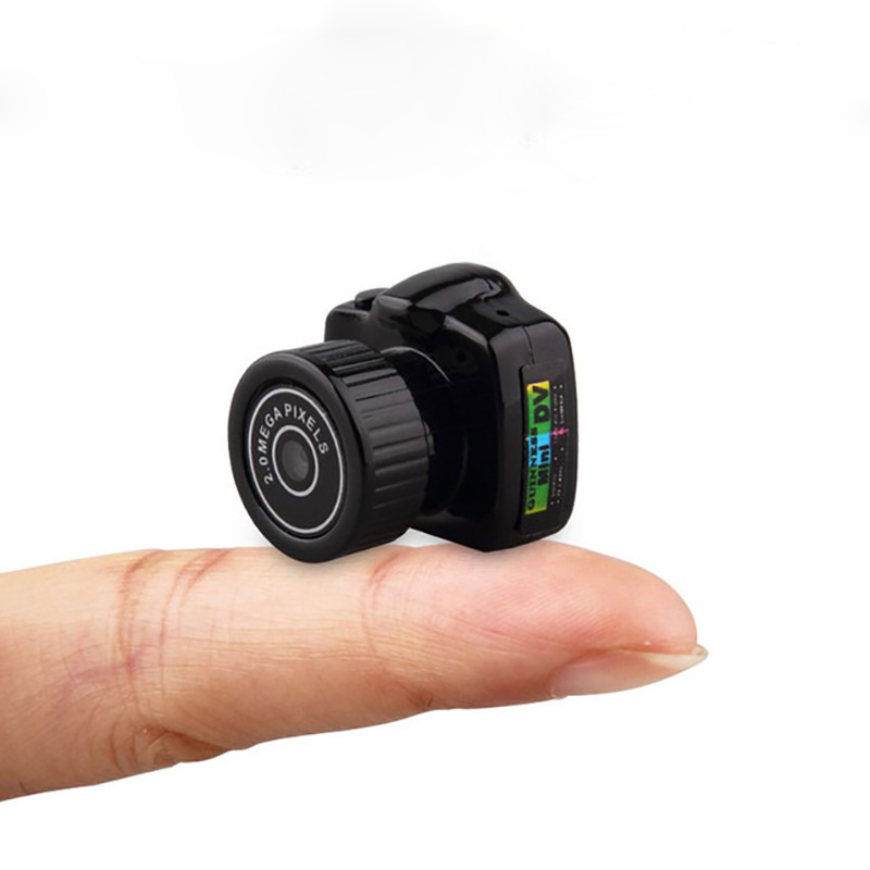 Mini Wireless Camera 720P Video Audio Recorder Y2000 Camcorder Small DV DVR Security Secret Nanny Car Sport Micro Cam with Mic holographic belt purse