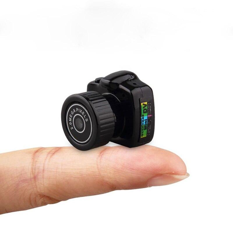 Mini cámara inalámbrica de 720 p Video grabador de Audio de Y2000 videocámara pequeño DV DVR secreto de seguridad. de niñera del deporte del coche de la Micro Cam con micrófono