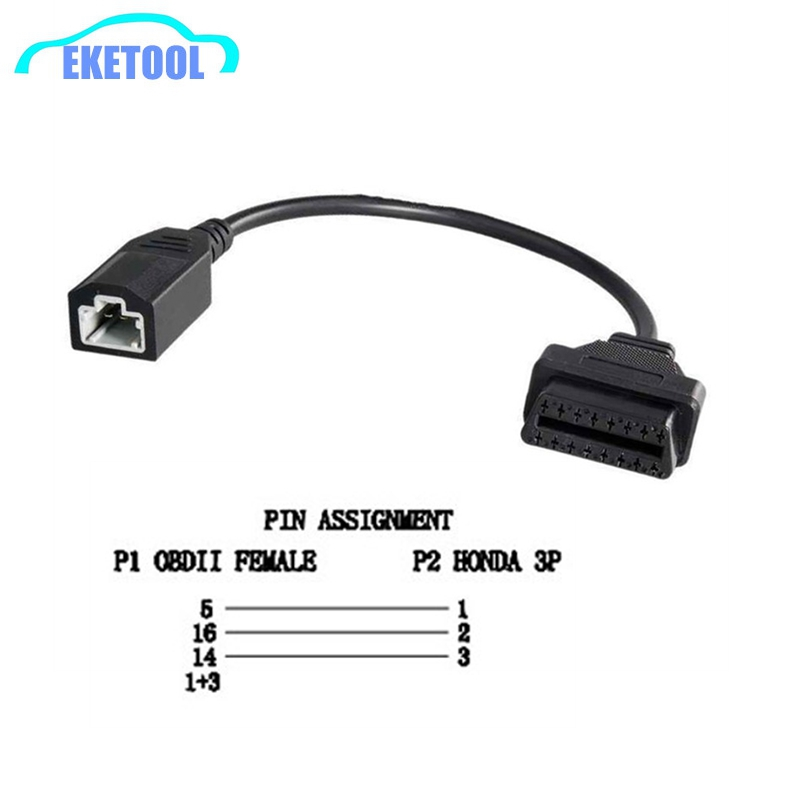 New OBD Adapter For Honda 5Pin OBD1 to OBD2 16Pin Female Diagnostic