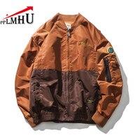 PPLMHU Air Force Bomber Jacket Men 2018 Spring Men's Vintage Patchwork Poilt Coat High quality Mens Windbreaker Outwear Coats