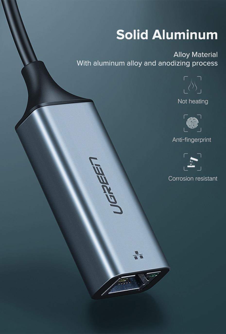 USB C To Ethernet RJ45 Lan Adapter