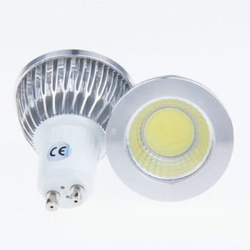 10 pieces led bulb GU10 socket 3w cob spotlight lamp dimmable AC 110v 220v 3000K 4000K 6500K warm white pure white light