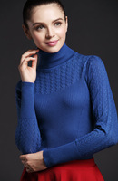 2016 Autumn Winter Sweater Women Pullovers Stretchy Tuntleneck Lantern Sleeves Basic Knitted Shirt 10 Colors