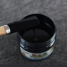 100g Black Water-based Paint Varnish for Iron&Wooden Doors,Fences,Furniture,Cabinet,Handcrafts,Wall,Painting Free Brush&Gloves(China)