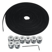 Durable 10m 33ft 20T GT2 Timing Belt 6mm Wide 10X Pulley For 3D Printer CNC RepRap
