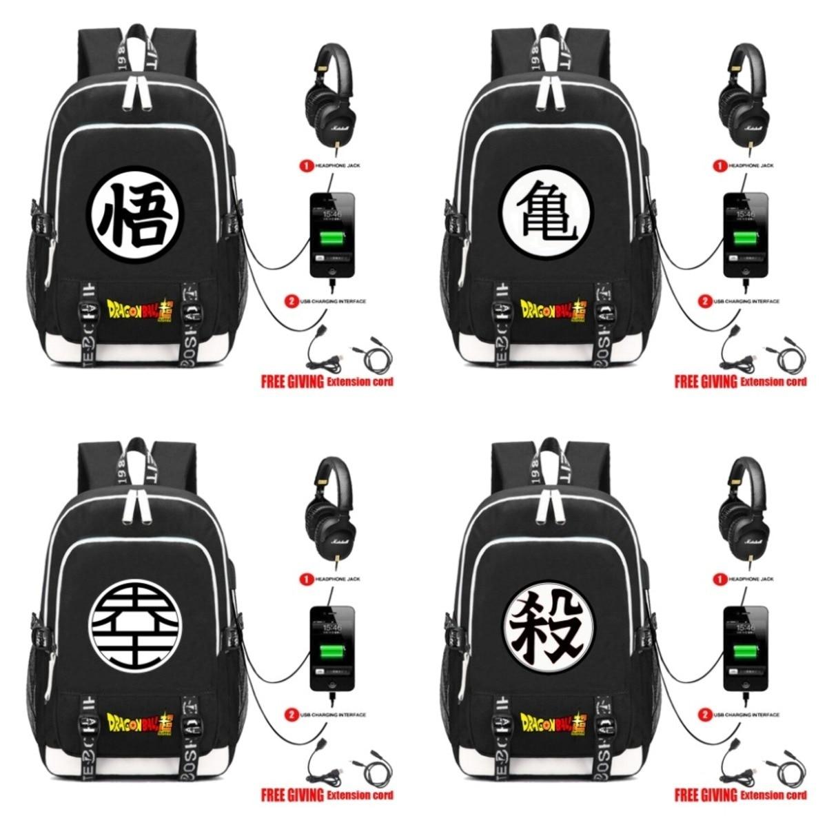 USB charging Headphone jack Rucksacks Japan anime Dragon Ball Z Backpack Kakarotto Goku cosplay Teenagers Laptop bag School Bags usb charging headphone jack rucksacks japan anime dragon ball z backpack kakarotto goku cosplay teenagers laptop bag school bags