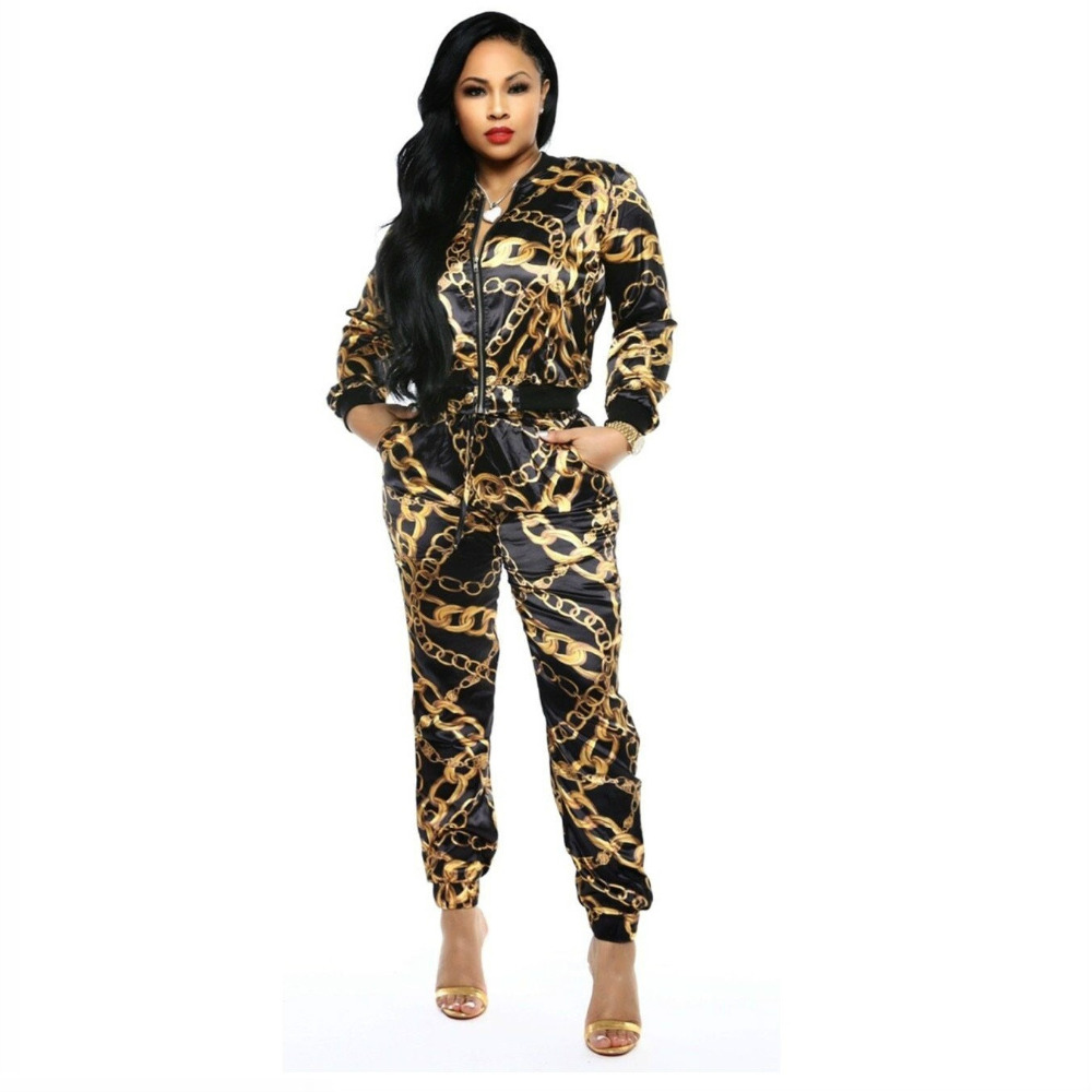 2019-new-women-chain-printed-zip-up-turn-down-neck-jackets-pencil-long-pants-suits-two-piece-set-tracksuit-outfit-glx9108