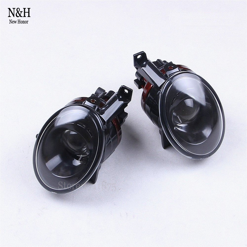 ФОТО 2Pcs Car Light Source Front Convex Lens Fog Lights Lamp for VW volkswagen jetta Golf MK6 tiguan fog light 5KD941699 / 5KD941700