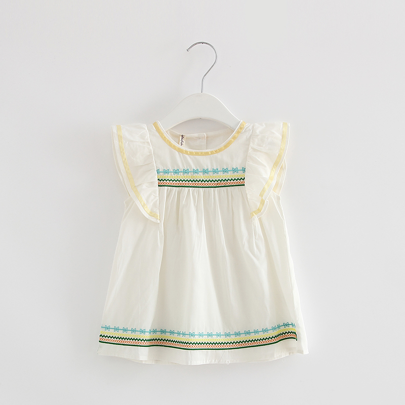 <font><b>Summer</b></font> <font><b>Baby</b></font> <font><b>Dress</b></font> Cotton Infant Girl <font><b>Dresses</b></font> Ruffles Toddler <font><b>Baby</b></font> Girl Clothes white 0-2T image