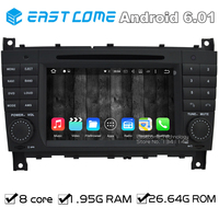 Octa Core 8 Core Android 6.01 Car DVD Player For Mercedes Benz CLK Class W209 CLK200 CLK220 CLK240 A209 With GPS Radio BT
