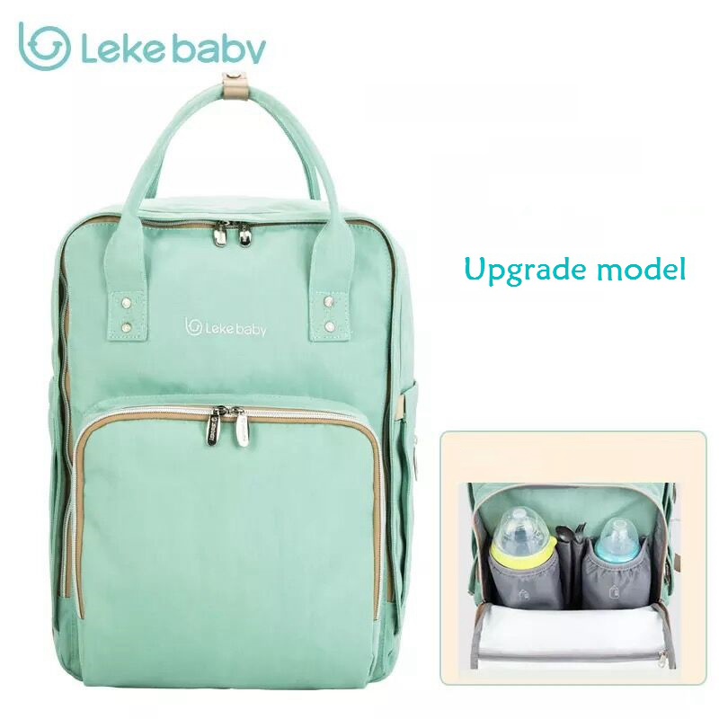 Lekebaby New Baby Bag for Mom Travel Backpack Large Diaper Bag Organizer Diapers Nappy Bags Maternity Bags Mother Baby Handbag idore baby diapers l 60pcs disposable nappies ultra thin large absorb capacity breathable 6dtex non woven fabric infant nappy