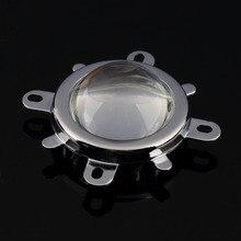 Высокое качество 60-80 градусов 1 комплект 30 Вт 50 Вт 100 Вт светодиодный 44 мм объектив+ рефлекторный коллиматор+ фиксированный кронштейн 3 мм Толщина дна