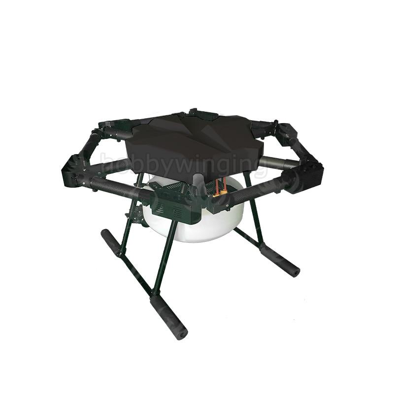 JMRRC 6-axis 10KG 10L Spray pump Agriculture drone spraying system 1200mm Wheelbase 30mm arm Folding UAV Hexacopter 6 axis spray pump agriculture drone w 10kg 10l spraying gimbal system carbon 30mm tube 1260mm wheelbase folding uav hexacopter