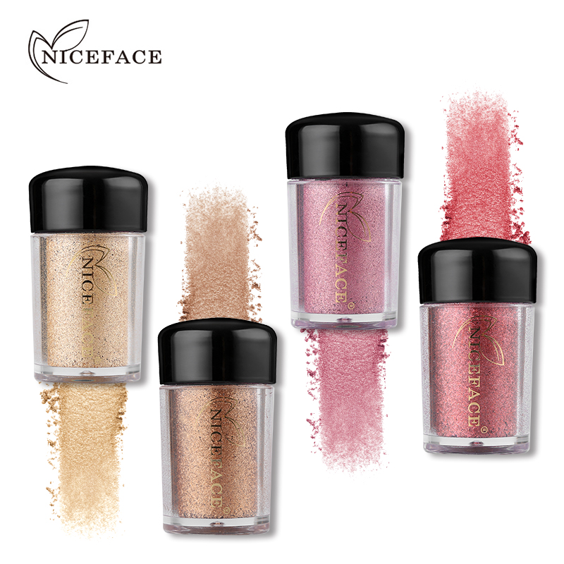 NICEFACE Pro Sparking Eyeshadow Loose Powder Diamond Glitter Shimmer High Pigment Eyeshadow Powder font b Makeup