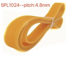 5PL1024 Pitch:4.8mm PU Ribbed Belt Multi-groove Transmission belt недорого