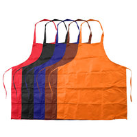 5pcs Kitchen Apron Chef Cooking Catering Bib Pure Color Cooking Kitchen Apron Kitchen Accessories