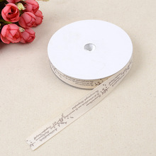 Polyester Ribbon 1.5cm*20 Yards Happy Birthday Korean Baking Cake Box Gift Clothing Decoration Material Cotton Belt