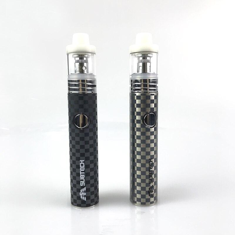 , 2pcs S22 kit 60W  vape e-cigarettes 1800mah battery with 2.5ml atomizer 0.3/ 0.5 ohm tank electronic cigarette Cylindrical Shape