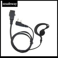 עבור baofeng 2pcs / הרבה שתי דרך earhook אוזניות האוזנייה רדיו עם PPT ו מיקרופון עבור Baofeng הרדיו UV-5R שתי סיכות משלוח חינם (1)
