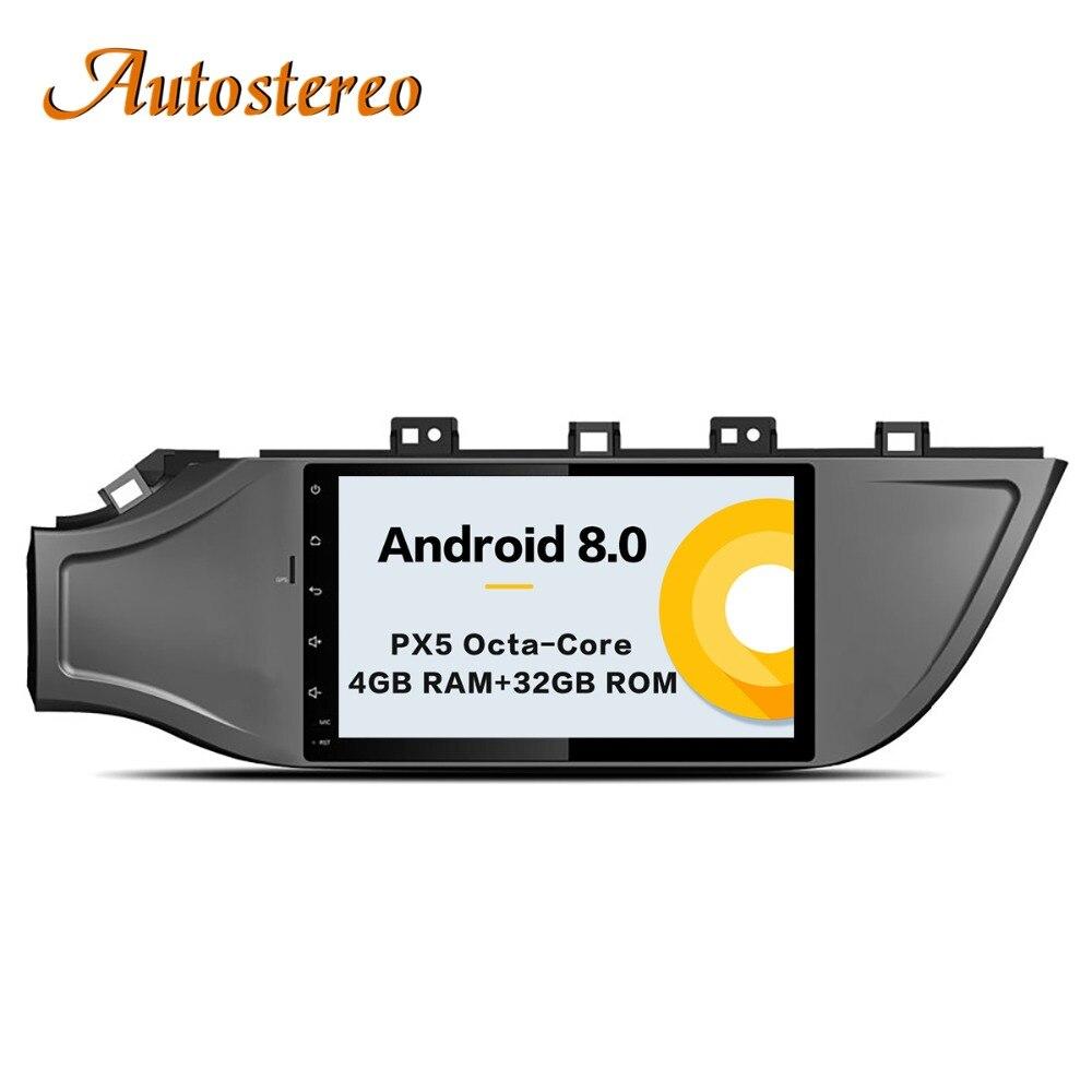 Android 8 Car No DVD Player GPS Navigation For KIA RIO 4 2017 Head unit multimedia