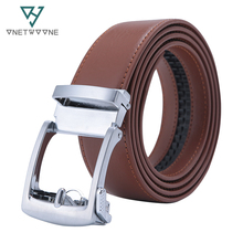 New Designer Popular Luxury Cowhide Leather Belt Brown Automatic Buckle Belly Waist Business Casual Belts For Men 3.5 Width belts men 140cm 150cm 160cm 2017new fashion business casual male belt strong men best popular selling goods cool choice hot sale