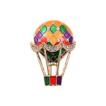Free shipping Rhinestone fashion new balloon drop glaze enamel delicate high-grade brooch