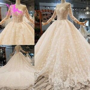 Image 1 - AIJINGYU nowoczesne suknie ślubne suknie podkoszulek letnie małżeństwo Vintage Brush suknie ślubne dla panny młodej