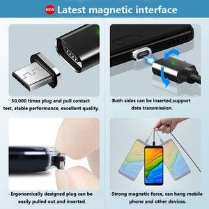 Image 5 - Üçü Bir Arada Manyetik Enayi Veri Kablosu Tipi C Uygulama Apple Android Dokuma Şarj Manyetik Kablo Yayan göstergesi