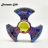 Fidget Spinner Hand Spinner Metal EDC Tri Spinner Maya Mirror Torqbar Pure Steel Rotation Time 5