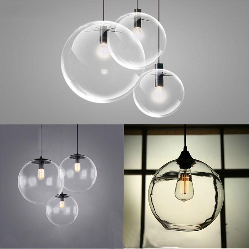 Image 4 - Bubble Pendant Light Glass Pendant Lighting Creative Decoration Fixtures for Bedroom Study Dinner Room Bar Modern Pendant lightPendant Lights   -