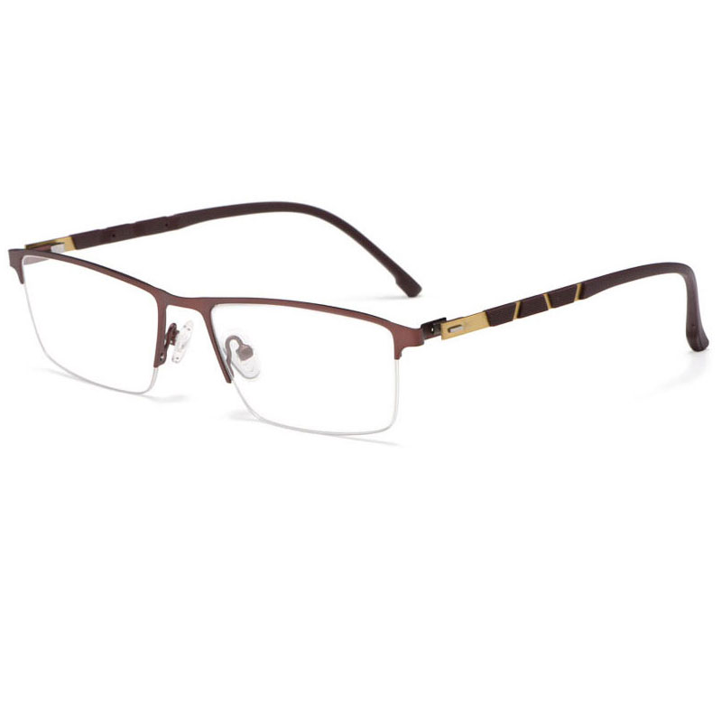 Image 4 - Reven Jate P9859 Optical Business Titanium Eyeglasses Frame For Men Eyewear Semi Rimless Glasses with 4 Optional Colors-in Men's Eyewear Frames from Apparel Accessories
