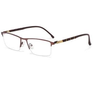 Image 4 - Reven Jate P9859 Ottico di Affari Telaio in Titanio Occhiali da Vista per Occhiali Semi Rim Occhiali con 4 Colori Facoltativi