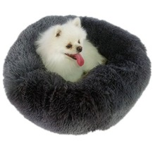 Warm Fleece Dog Bed 50 60 70 80cm Round Pet Lounger Cushion For Small Medium Large Dogs & Cat Winter Dog Kennel Dog Puppy Mat new winter warm dog round bed soft fleece kennel for puppy pet top quality lounger cushion for small medium large dogs
