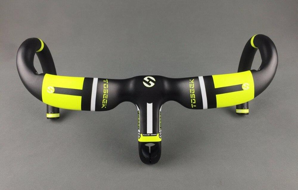 Guidon de tige en fibre de carbone complet piste de course de vélo de route