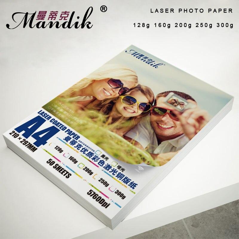 Купить на aliexpress Высокое качество 120g 160g 200g 250g 300g A3 A4 Двусторонняя глянцевая Лазерная печатная фотобумага