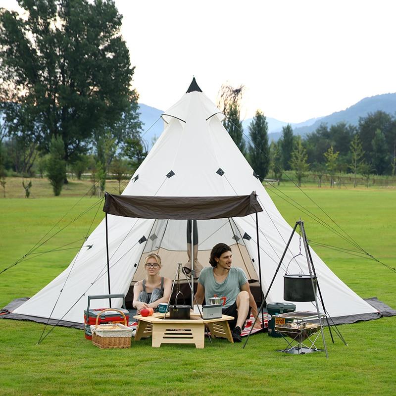 где купить Naturehike teepee tent outdoor large camping tent 5-8 person 3-4 person 2018 summer new по лучшей цене
