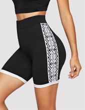 Yoga Shorts Womens Printed Sports Suit Tight Fitness Leggings Women Running Cycling