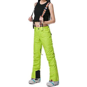 GsouSnow Women\'s Winter Shoulder Straps Ski Pants Outdoor Sportswear Hiking Climbing Snowboarding Skiing Female Trousers MI013 - DISCOUNT ITEM  35% OFF Sports & Entertainment