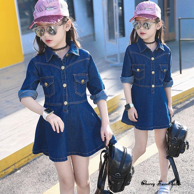 Girl dress. Children's clothing spring and autumn girls denim one-piece dress 100% children casual long-sleeve cotton dresses очиститель деталей тормозов и сцепления астрохим act 4306 антискрип