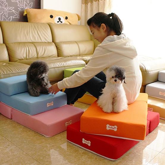 Cute pet ramp Stairs for small dog pet dog mat mattress